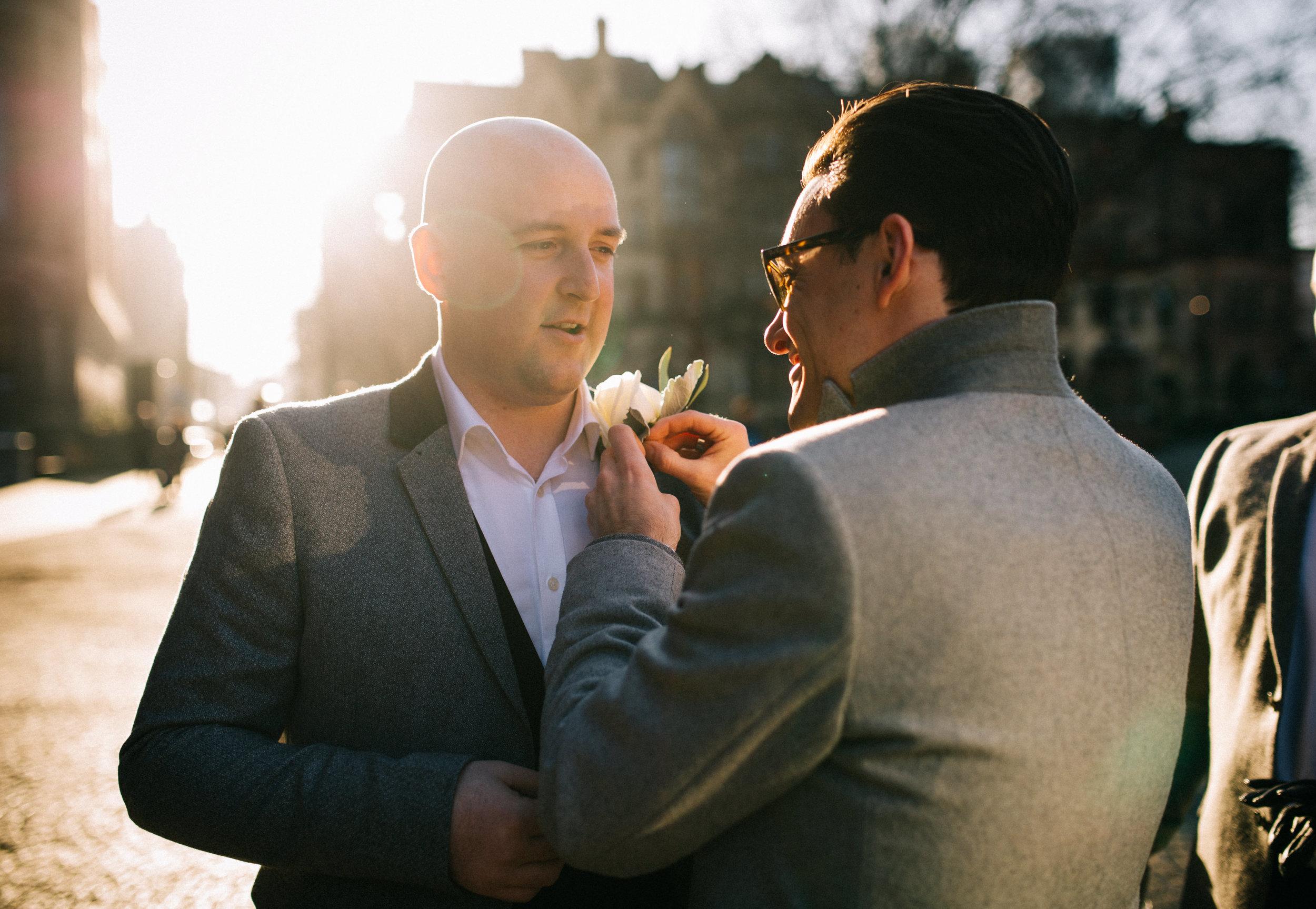 beautiful winter sunshine - Manchester wedding
