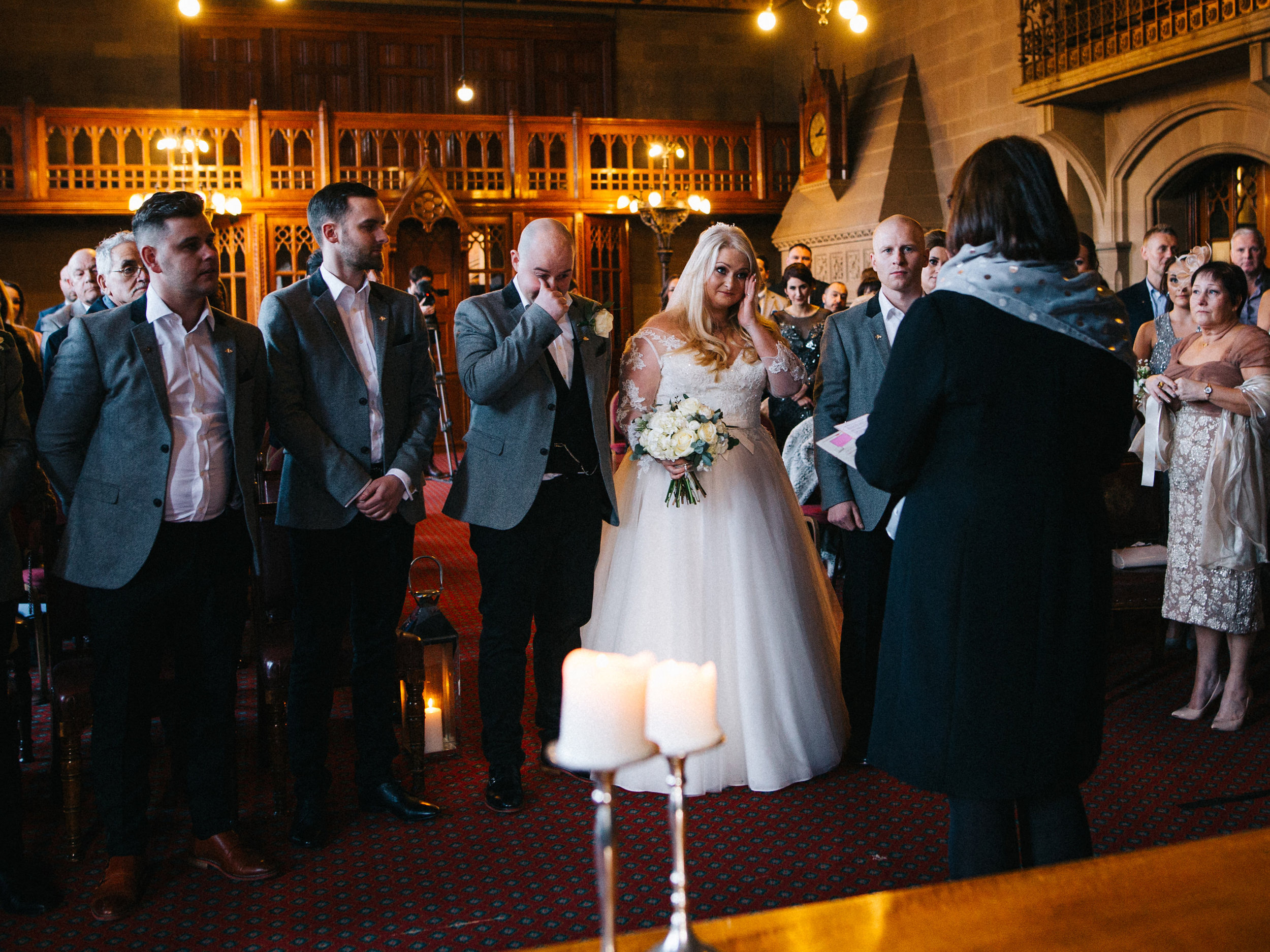 documentary wedding photography in the North West - emotional bride and groom