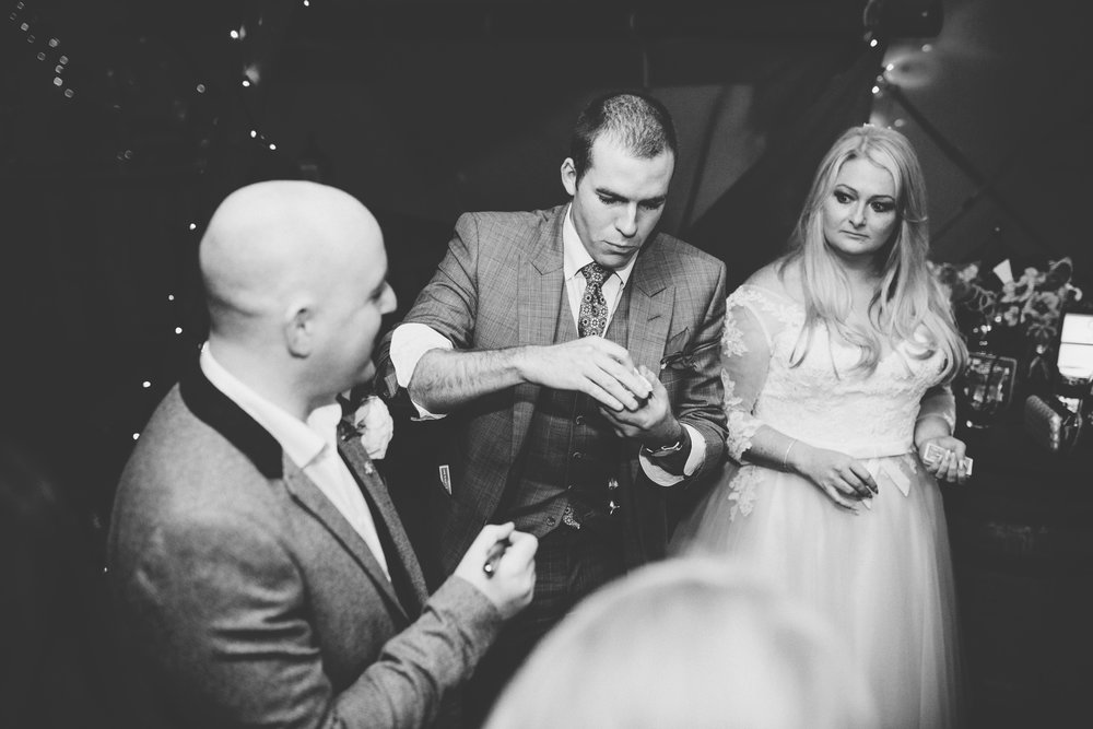 wedding magician at manchester wedding