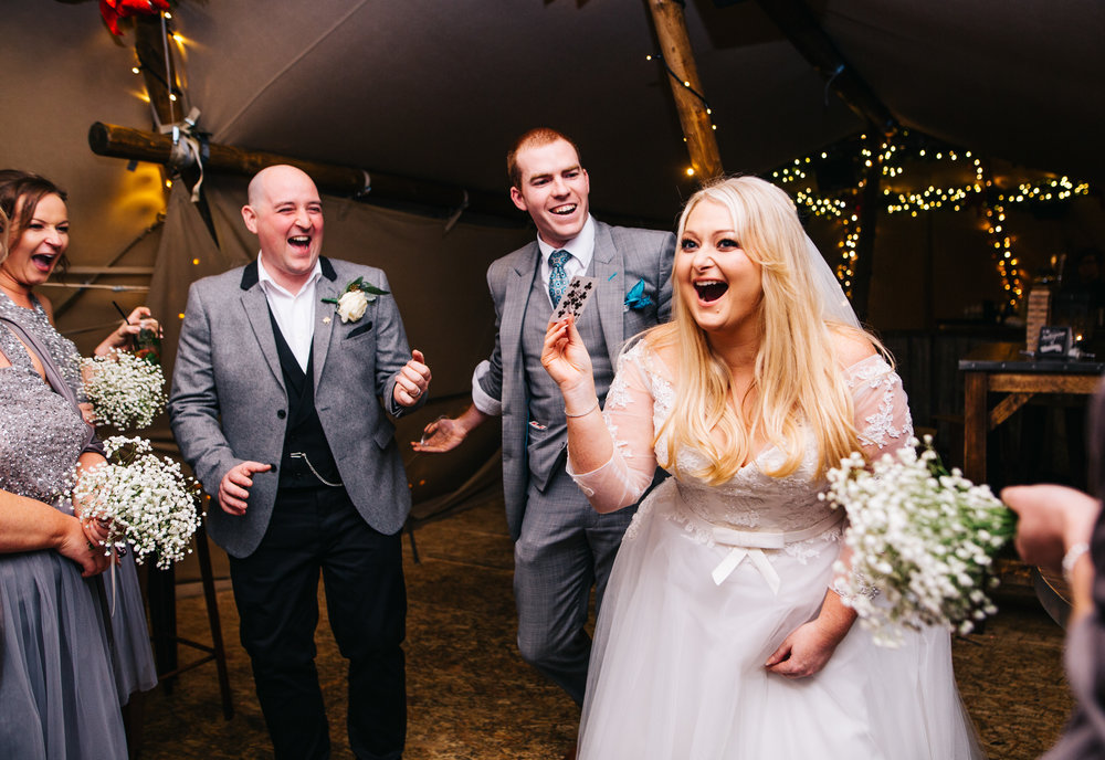 bride's reaction to manchester magician Sam Fitton