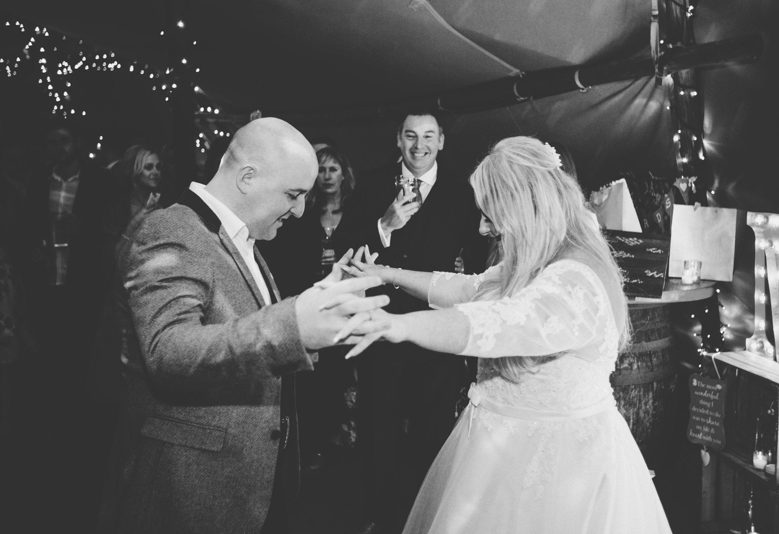 fun first dance - wedding photography Manchester