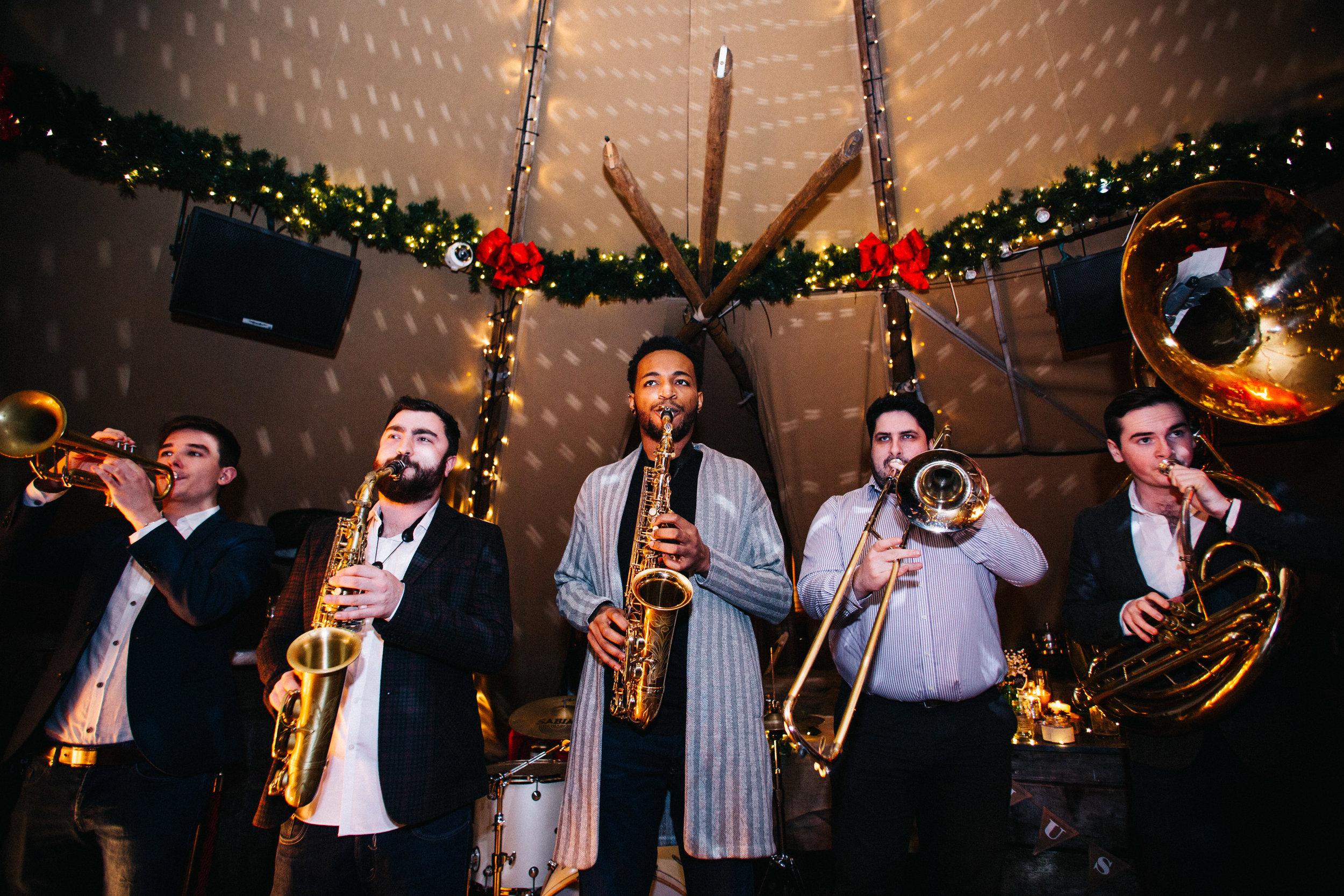 Brass band - wedding photography Manchester