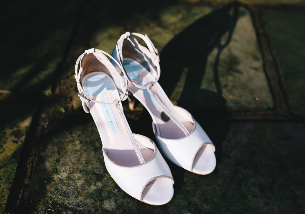 close up of the bride's shoes