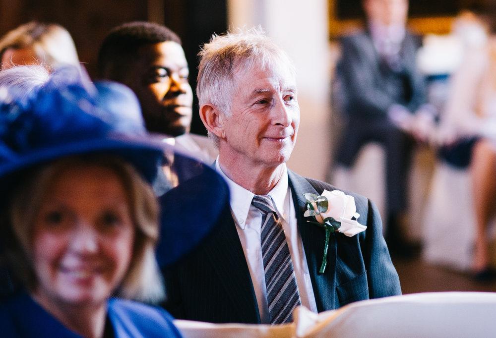 natural shots of the guests at samlesbury hall wedding venue
