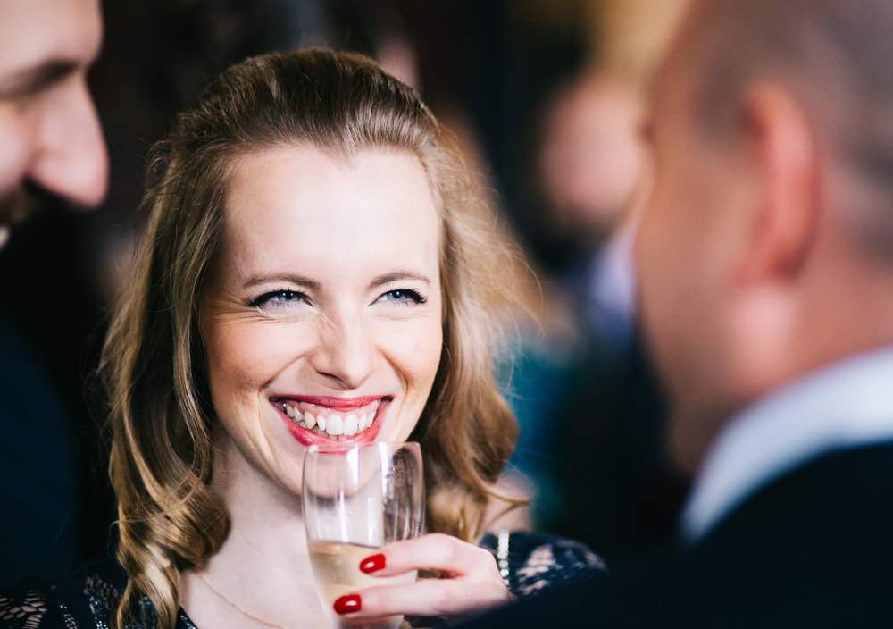 natural shots of the guests enjoying the drinks reception - lancashire wedding photographer