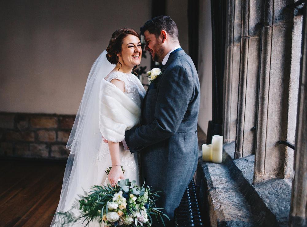 wedding portraits inside Samlesbury Hall