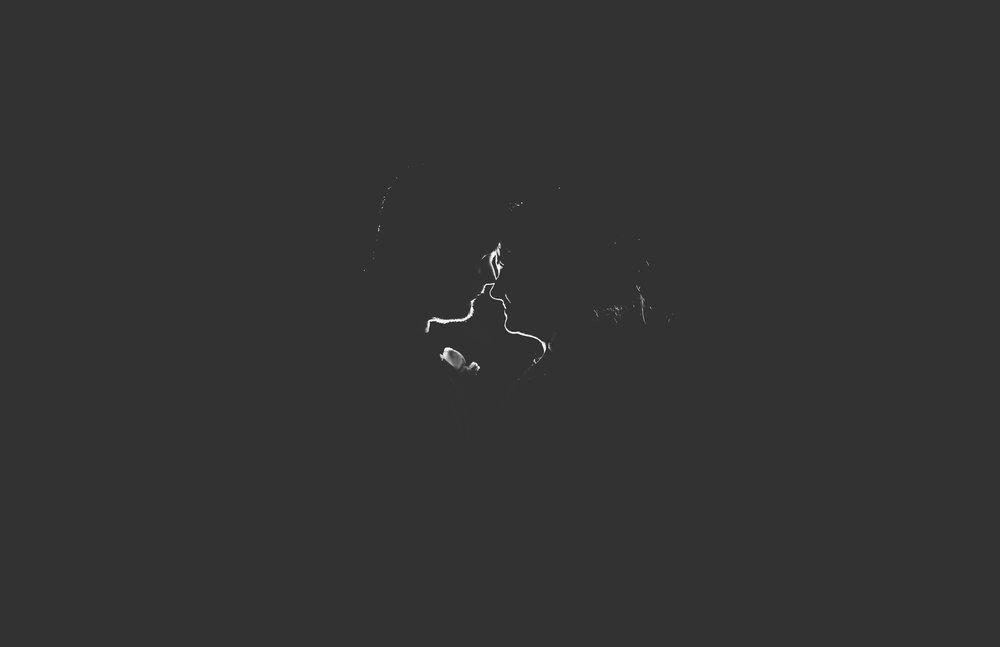 creative wedding photographer - backlit image at night