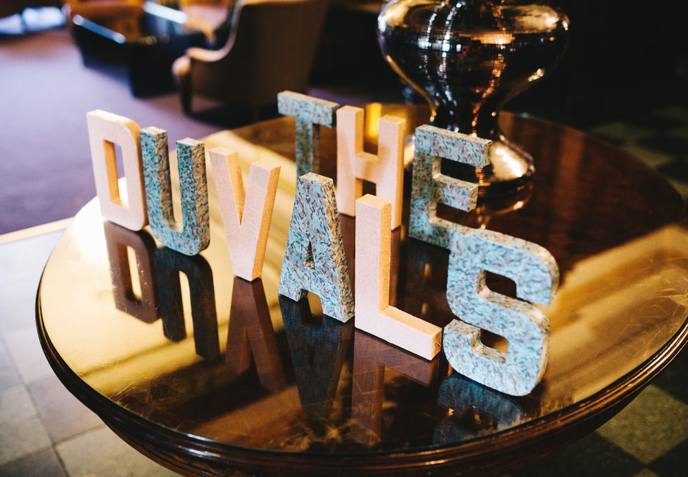 wedding photography at Eaves Hall - personalised decorations