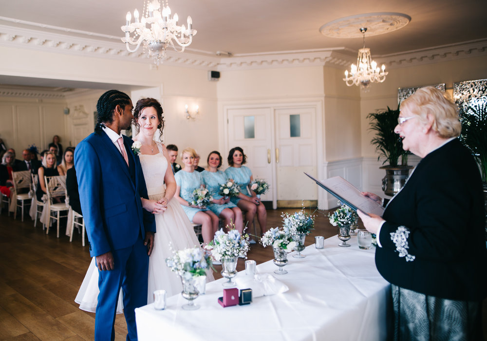 bride and groom see each other for the first time