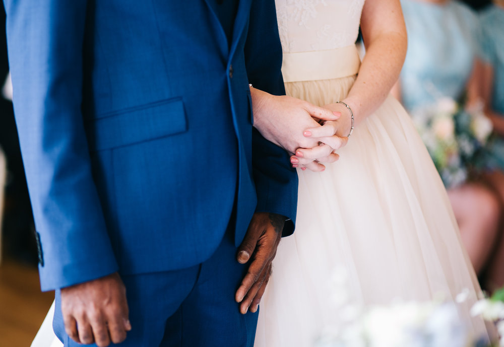 close up of bride and groom - artistic wedding photography in lancashire