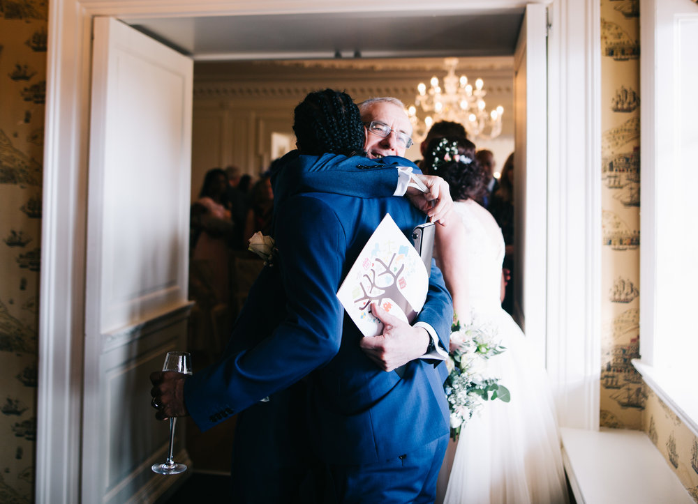 hugs with the guests