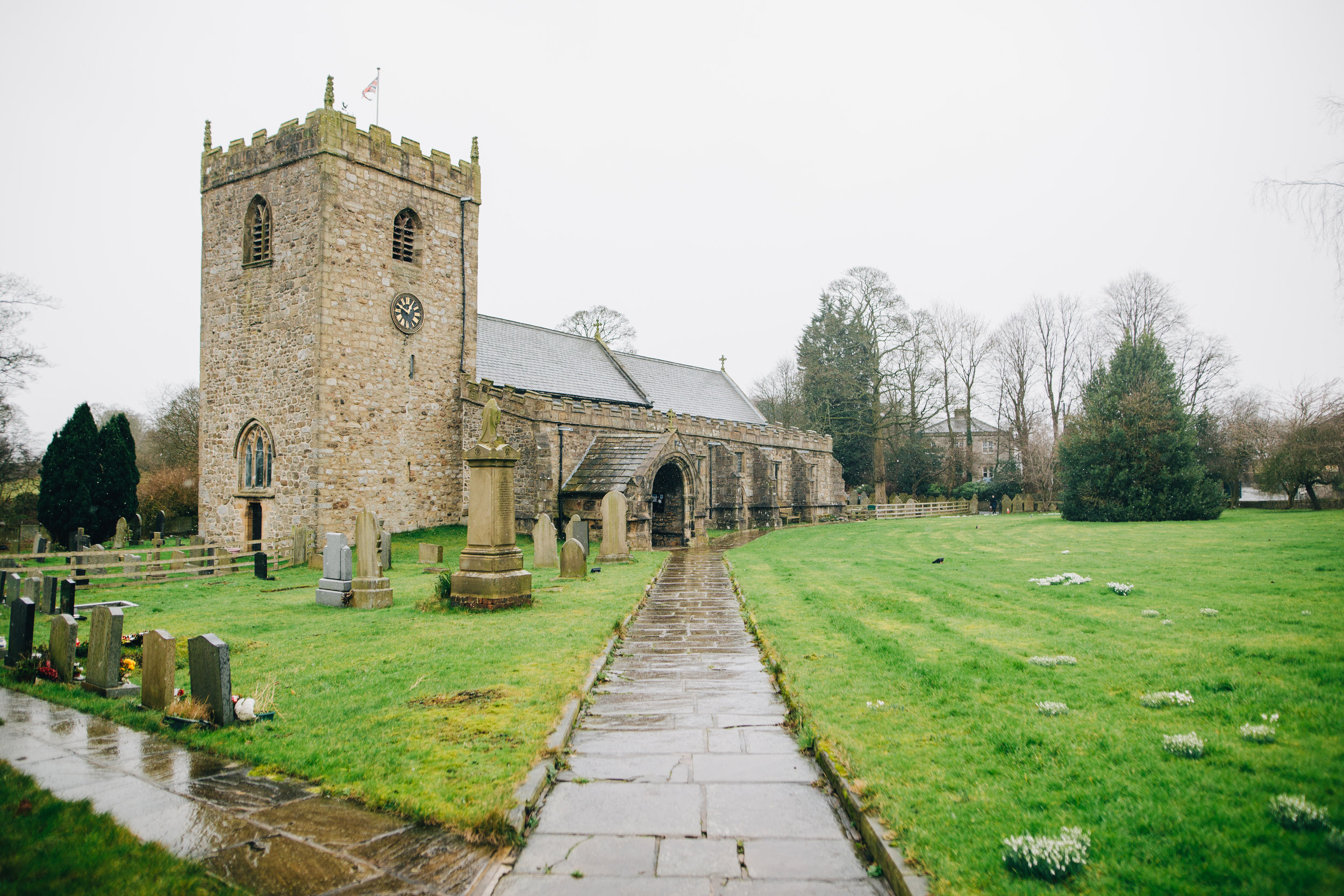 church in gisburn - wedding photographer Lancashire