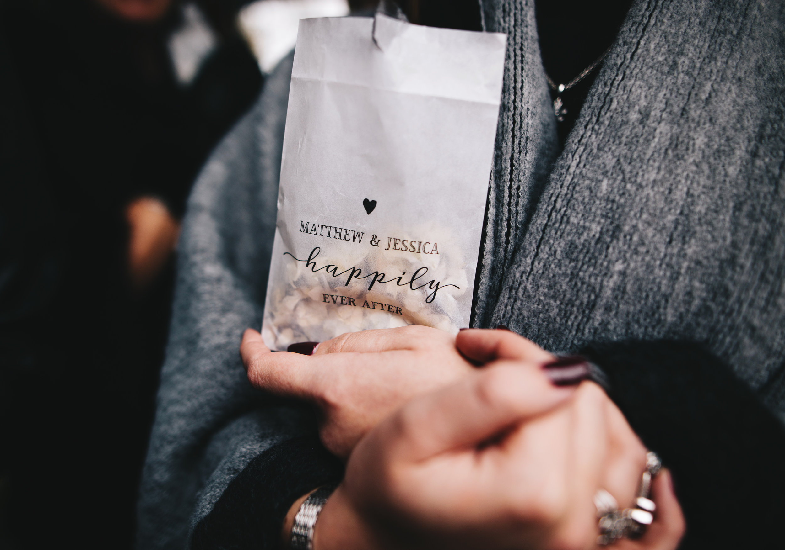 personalised wedding confetti bags