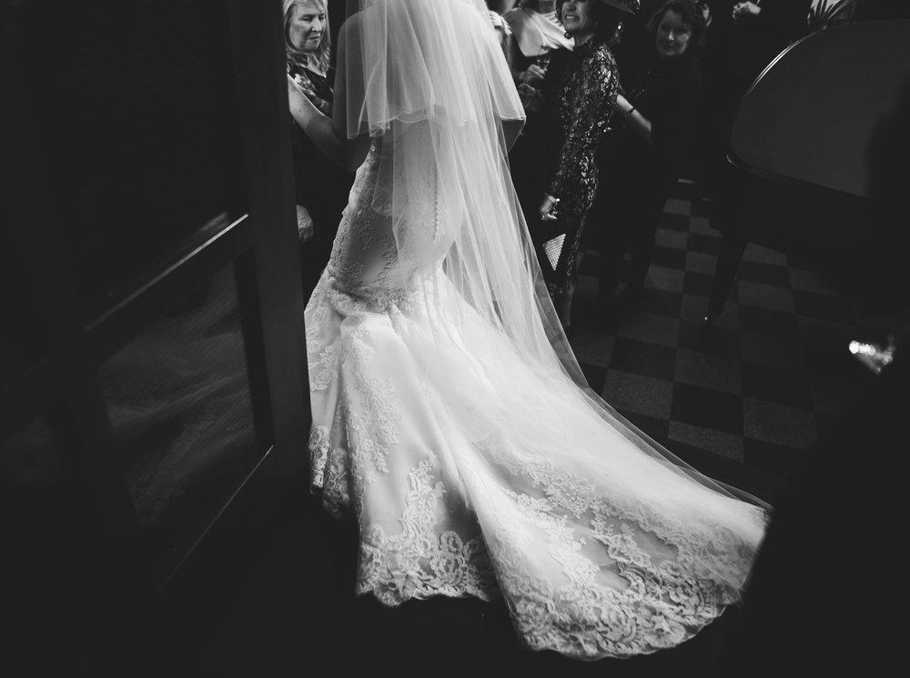 artistic detail shots of bride's dress