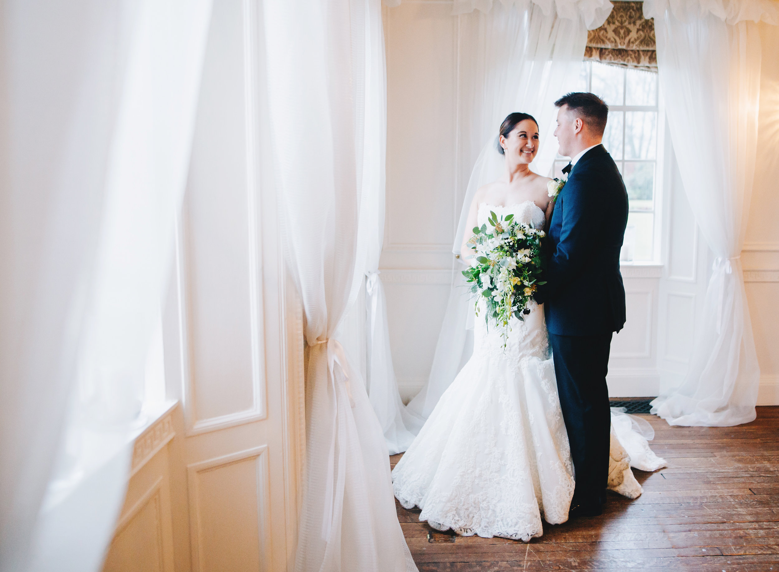 indoor wedding pictures at Eaves Hall
