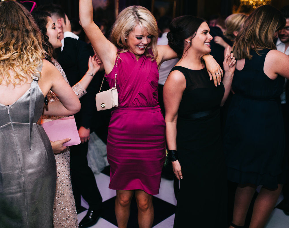 guests enjoying the party  - modern and relaxed lancashire wedding photographer