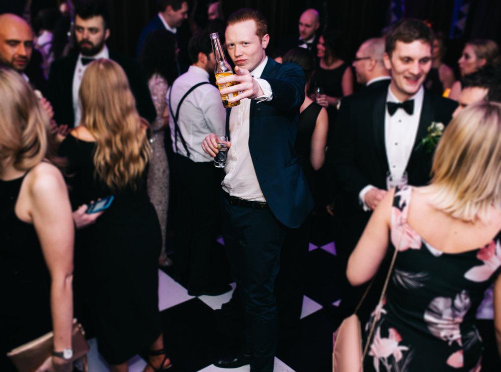 guests dancing and having fun at eaves hall