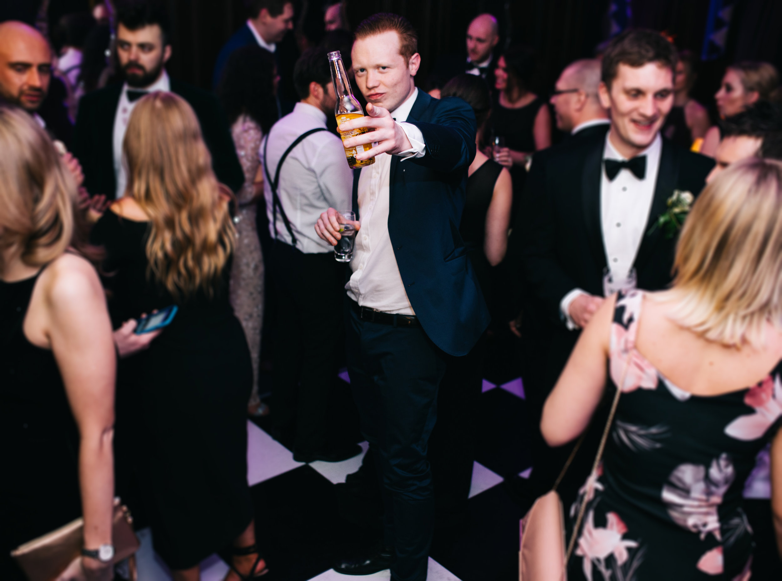 fun and relaxed dance floor pictures - eaves hall wedding