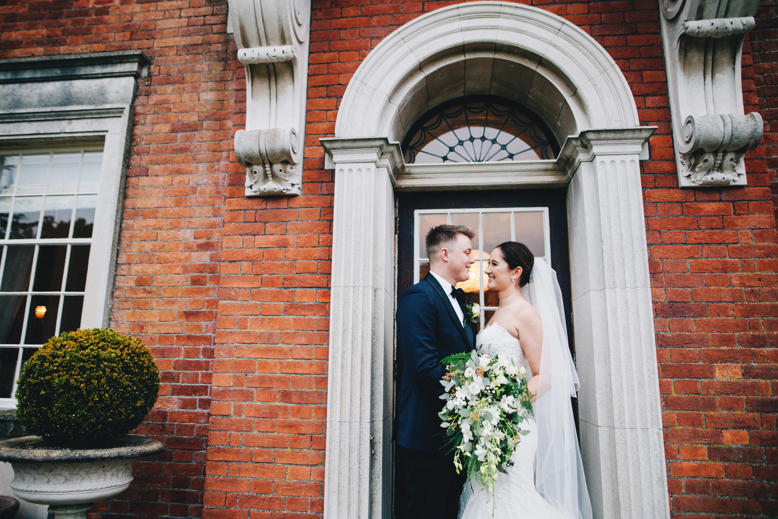 beautiful brickwork at Eaves Hall wedding venue