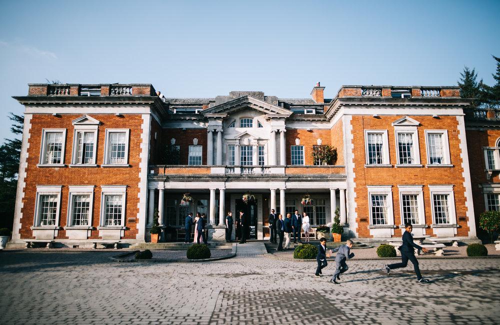 Eaves Hall in the sunshine - wedding photography Lancashire