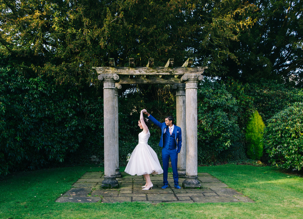 creative Lancashire wedding pictures - Eaves Hall