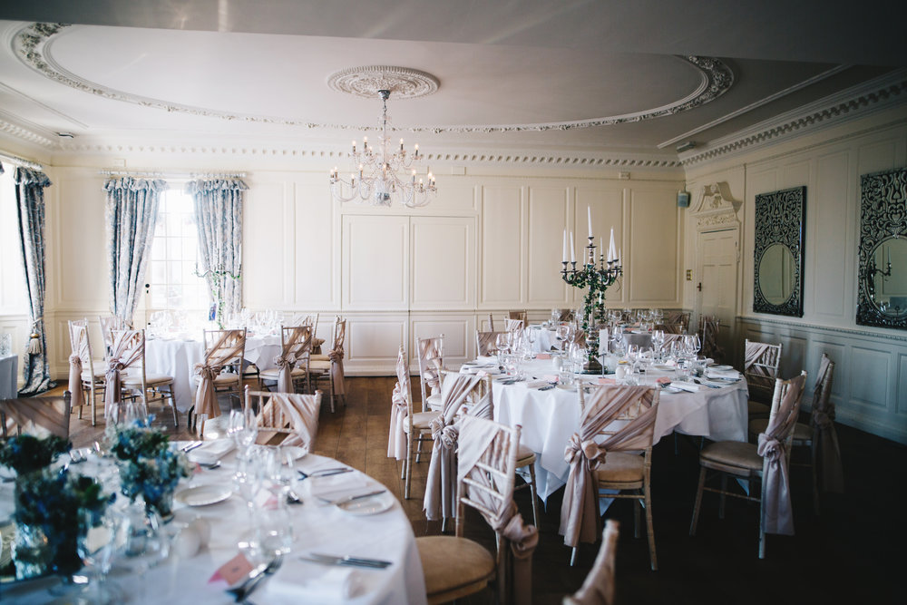 the reception room at Eaves Hall