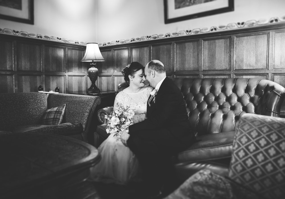 Broadoaks country house hotel - wedding portraits of the bride and groom
