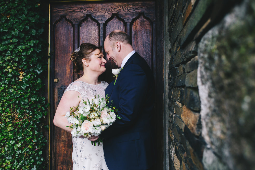 wedding portraits at Broadoaks Country house hotel - lake district