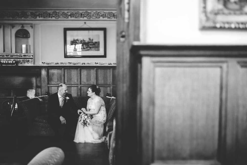 intimate portrait of bride and groom - Broadoak country house wedding