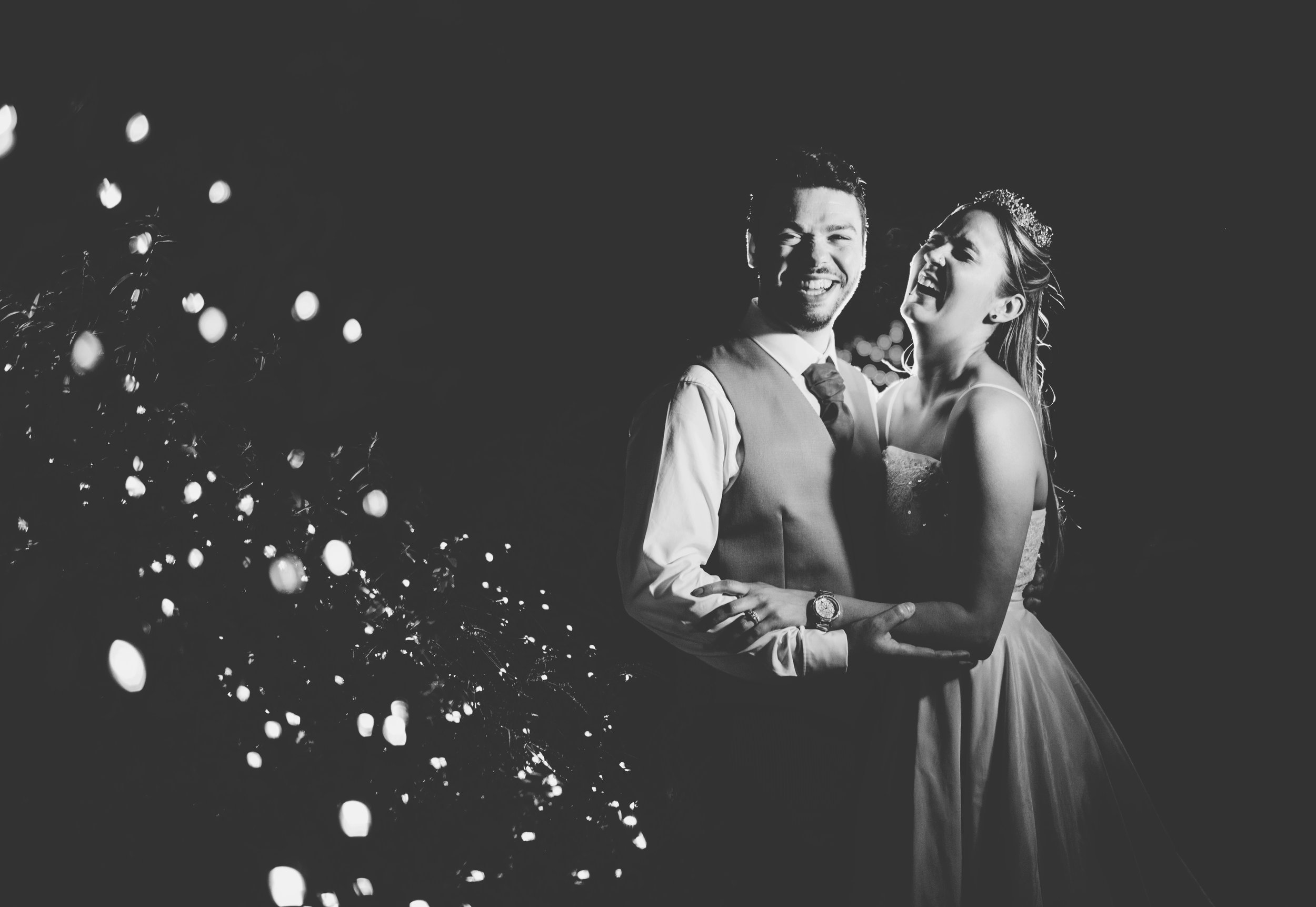 Rivington Barn wedding pictures - laughing couple