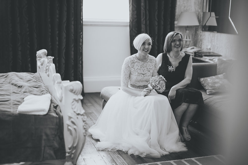 documentary images of the bride and her mother - manchester wedding photographer