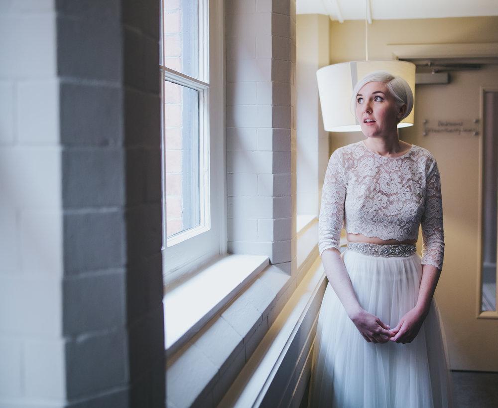 bride at great john street hotel - portraits