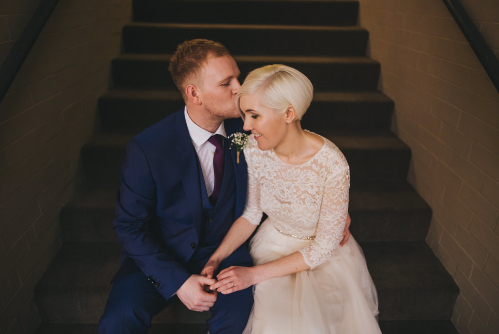 sweet intimate wedding pictures from manchester wedding photographer