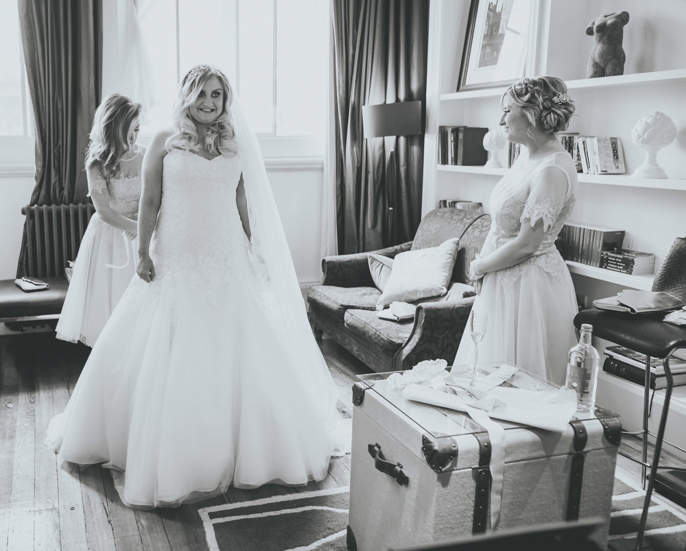 bridesmaid gets emotional - wedding photographer Manchester