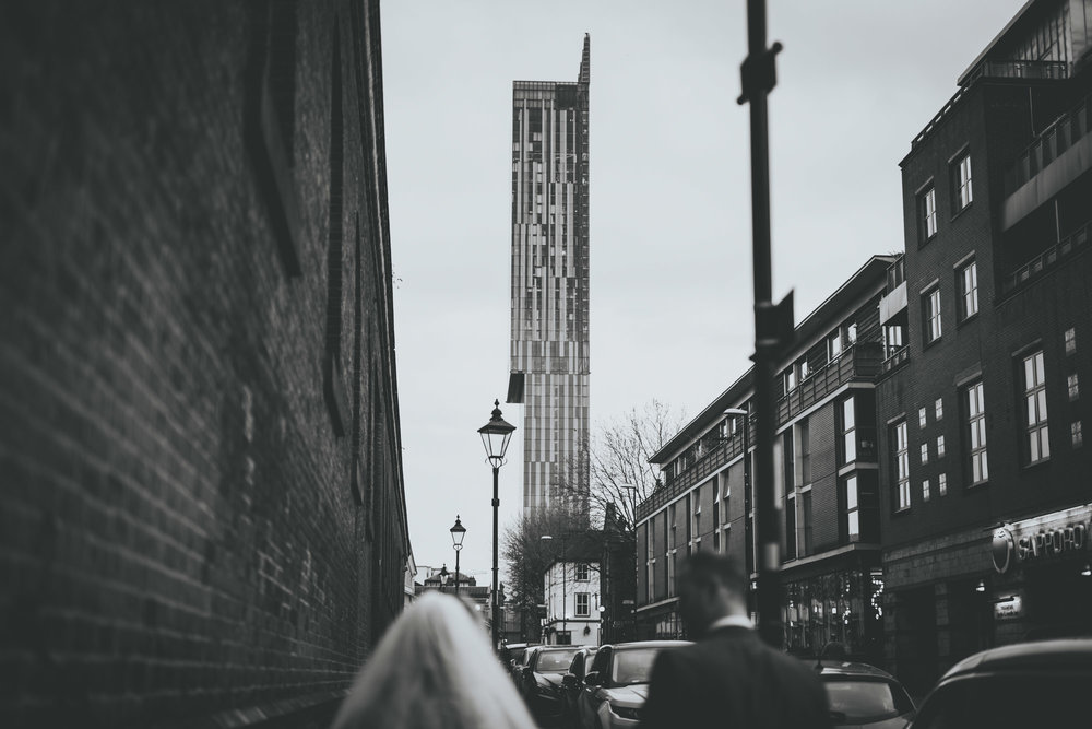 Manchester wedding photographer - shot of the Manchester skyline