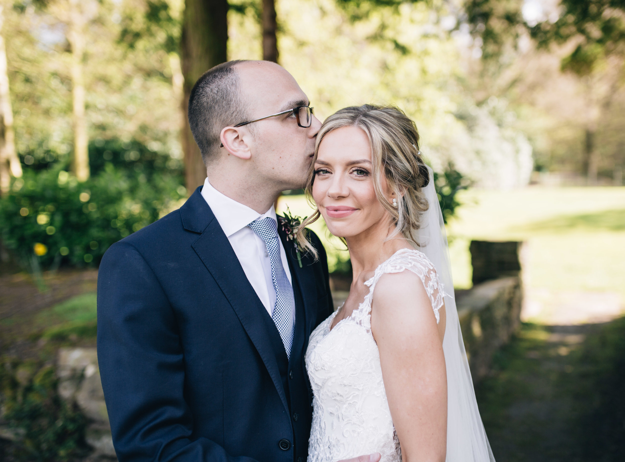 relaxed wedding pictures Cheshire - bride and groom at Mottram hall