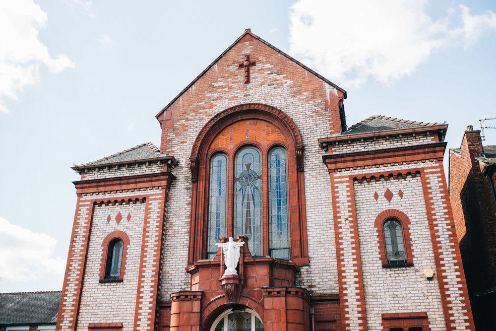 exterior of the church - cheshire wedding photographer