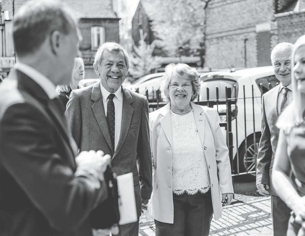 guests arriving at church - wedding photography cheshire