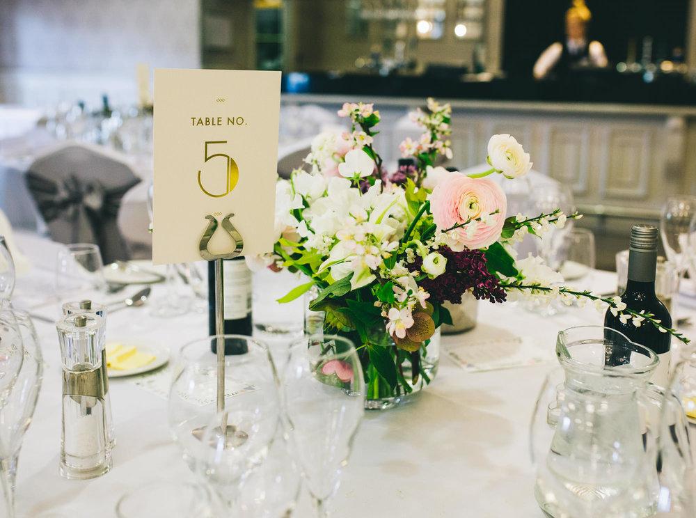 table settings - mottram hall wedding