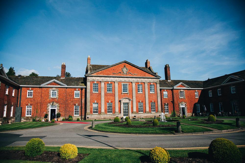 exterior image of mottram hall - wedding venue in cheshire