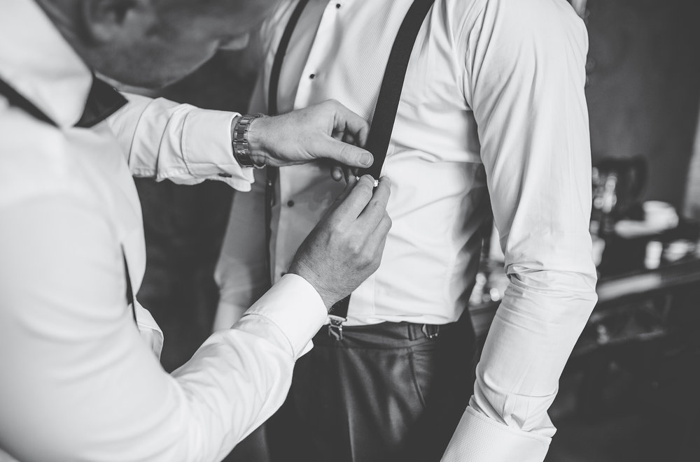 groom prep - close up images
