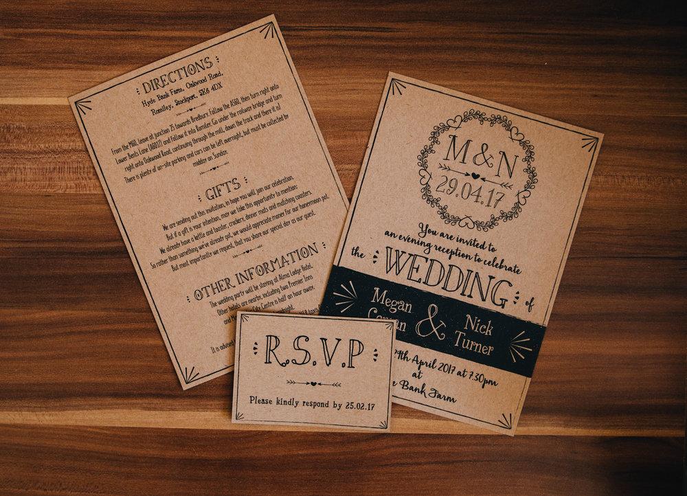 images of wedding invitation - Manchester wedding photographer