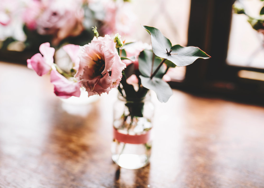 decorations in side Hyde Bank Farm - rustic inspired wedding