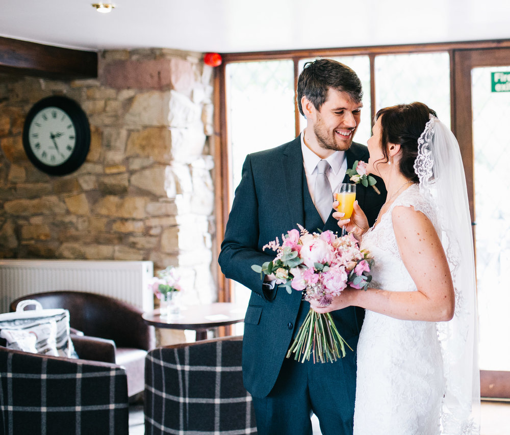a quiet moment before guests arrive - documentary wedding photographer manchester