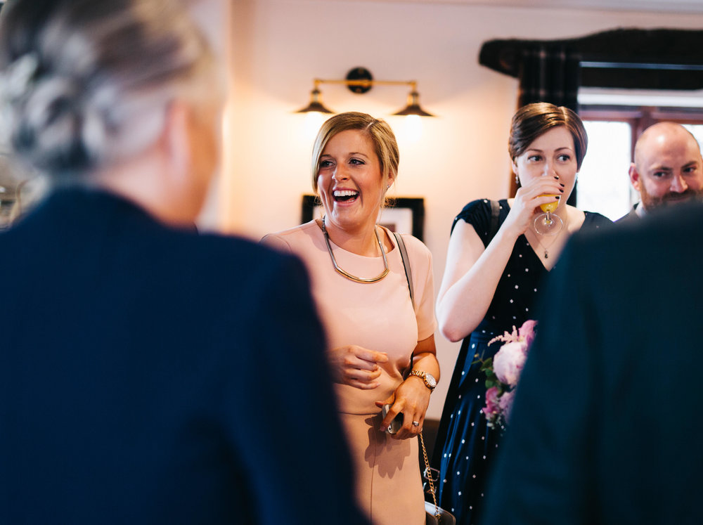wedding pictures from hyde bank farm - guests laughing