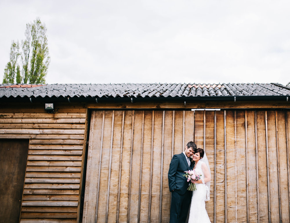 modern and creative wedding photography in manchester - at hyde bank farm