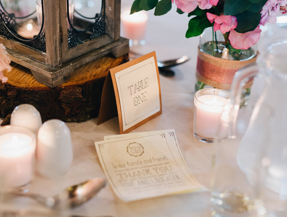 lots of hand made wedding details at this manchester wedding