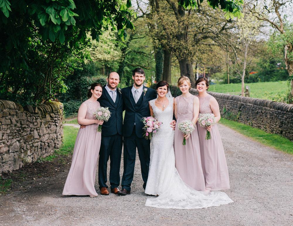 creative group shots - wedding photographer manchester