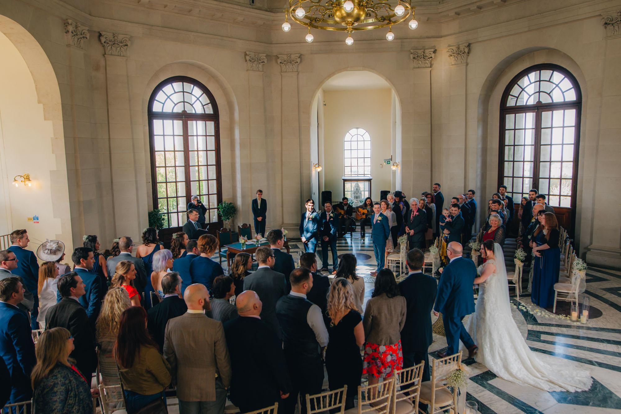 gorgeous interior at Ashton Memorial Wedding
