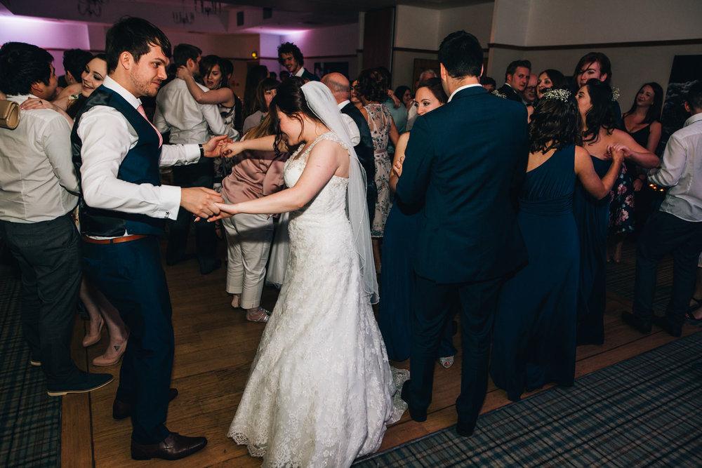 Bride and groom dancing the night away at Ashton Memorial in Lancaster, Lancashire wedding photographer, Vintage wedding.